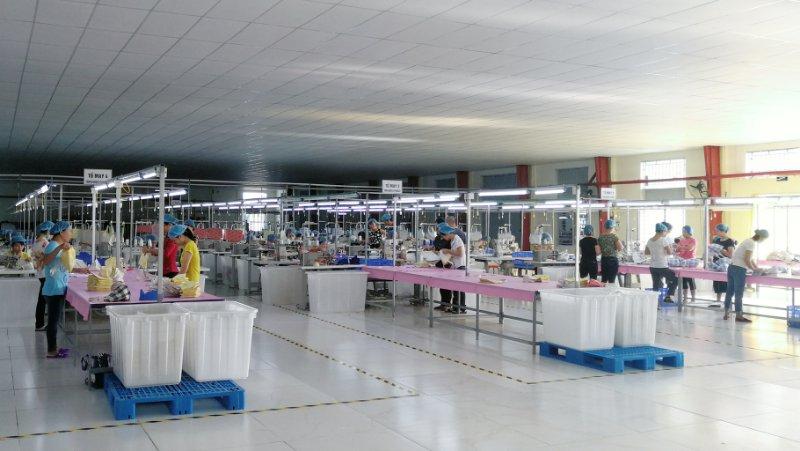 森荣手袋越南工厂正式投产实景拍摄