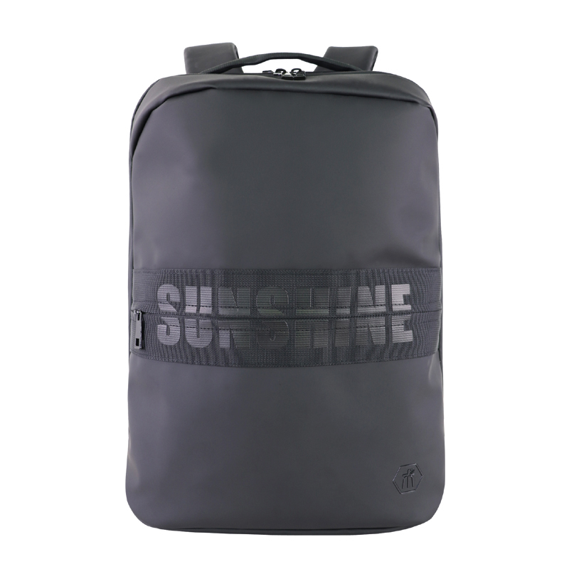 男士防水皮膜背包 PU皮旅行双肩包 潮大容量电脑包定制